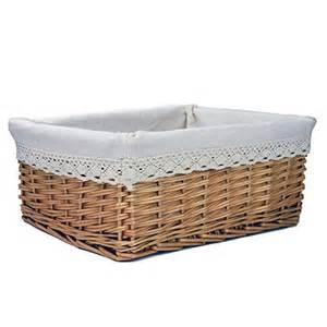 rurality rectangular willow wicker storage shelf basket