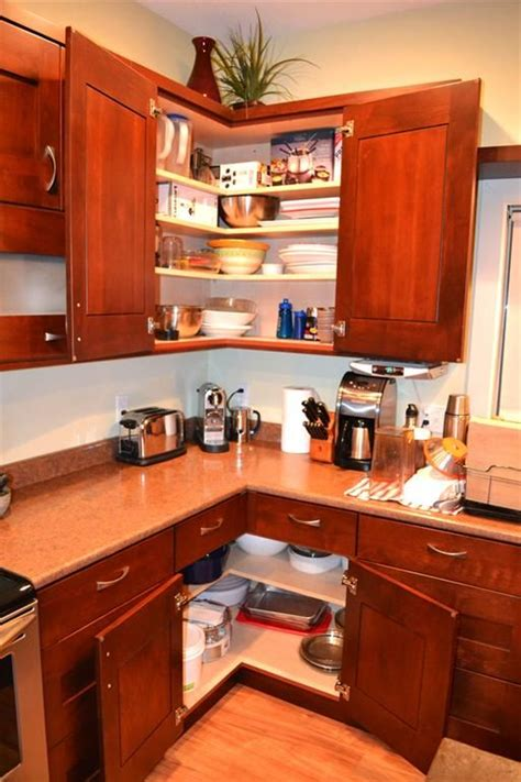 cabinet ideas for kitchens kitchen easy reach corners zero watsed space kitchen