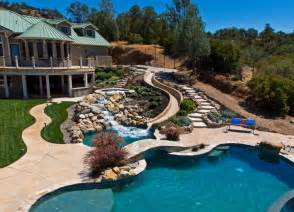 Backyard Pool Water Slides 28 Remarkable Backyard Waterpark Ideas Home Stratosphere