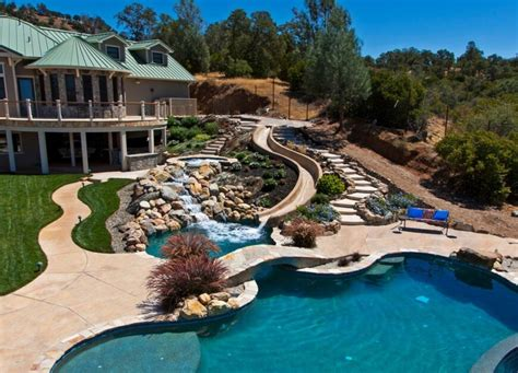 Water Slides For Backyard Pools by 28 Remarkable Backyard Waterpark Ideas