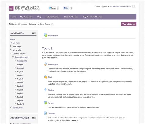 moodle themes exles how to set a different theme for a moodle course
