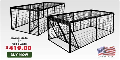 swing door hog trap plans wild hog traps shipped nationwide