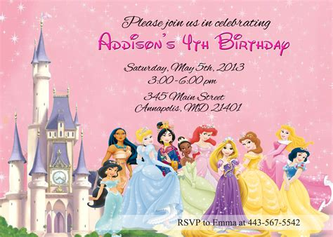 disney princess invitation templates princess invitation disney princess by prettypaperpixels