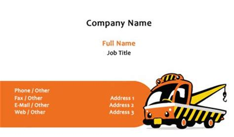 tow truck business card template business card template designs