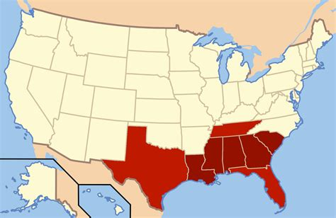 map of the united states southern region file deep south map png wikimedia commons