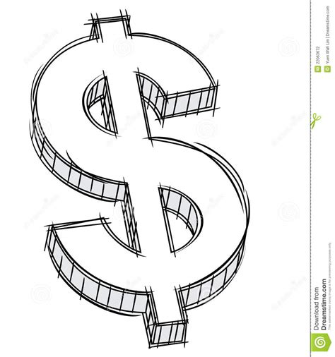 doodle sign in doodle of money sign stock photography image 22063672