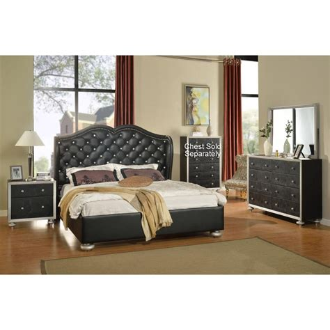 Black King Bedroom Set by Grand Opening Black 6 King Bedroom Set