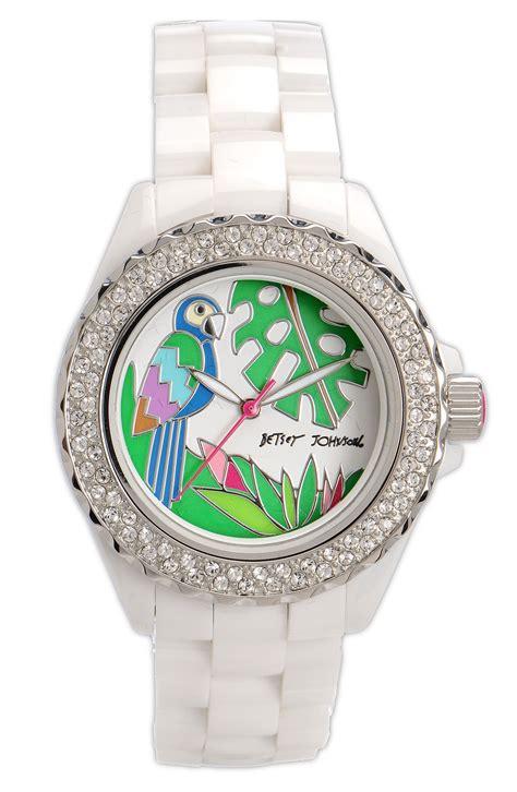 Betsey Johnson Time by Betsey Johnson Bling Bling Time Ceramic Bracelet In