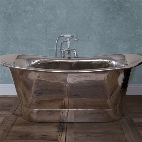 Nickel Bathtub by Normandy Copper Bath With Nickel Finish From Period Home