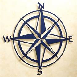 Compass Wall Decor by Compass Indoor Outdoor Metal Wall