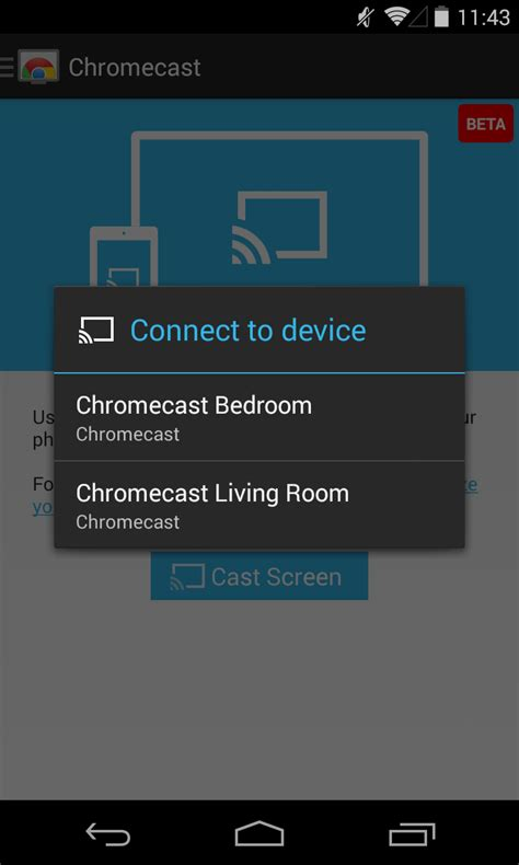 cast apk chromecast app updated to v1 7 with screen integration apk