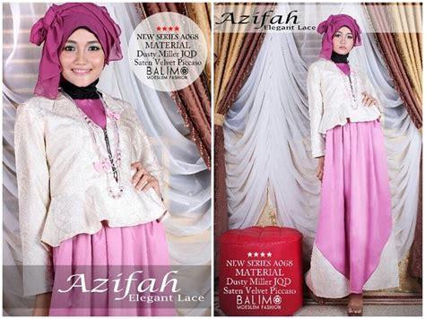 Gamis Dress Baju Muslimah Violet Ummina balimo azifah violet baju muslim gamis modern