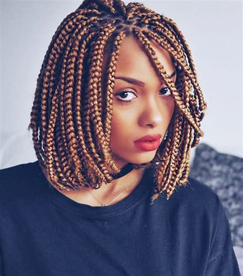 Bob Braid Hairstyles by 5 Box Braid Styles To Wear This Summer Byrdie