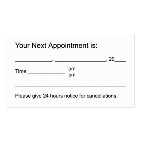 appointment card template free business appointment card template stones candle