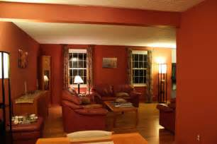 Living room with warm paint color ideas country living room design