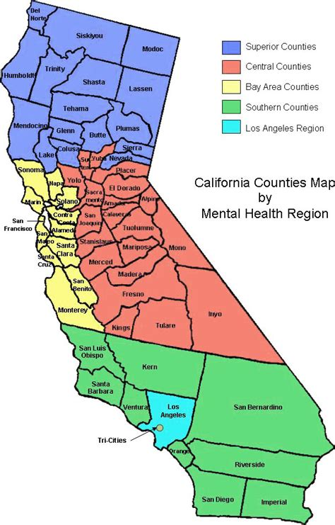 california map of counties california counties images