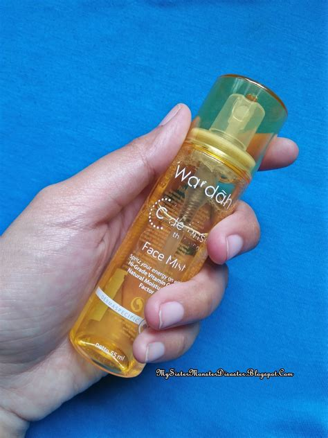 Wardah Mist Dan Serum review wardah c defense series mist mysistermonsterdisaster