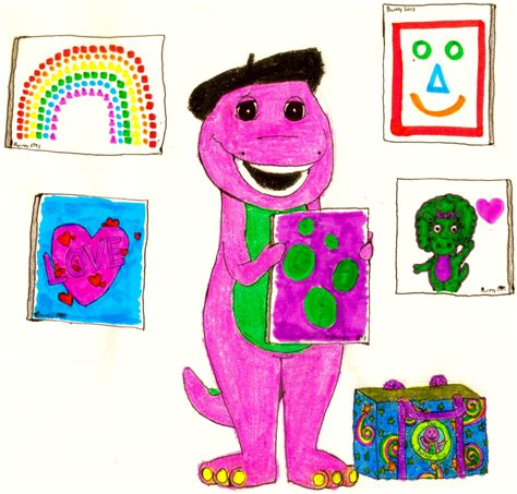 barney painting free barney made a lot of pictures by bestbarneyfan on deviantart