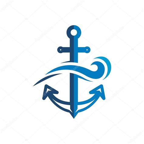 anchor logo anchor sailor logo design vector stock vector