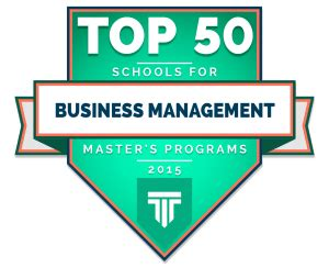 best master in management top 50 master s in business management degrees