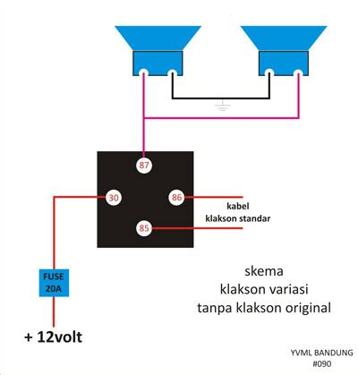 wiring diagram relay klakson gallery how to guide and