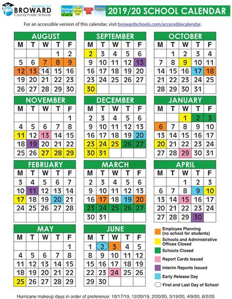 broward county public schools official calendar