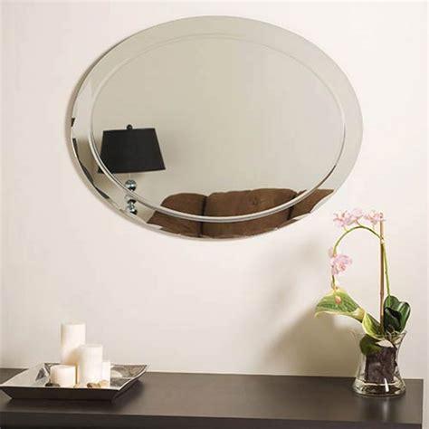 bathroom mirrors radiance scallop top frameless with or oval frameless mirror with scallop edges decor wonderland