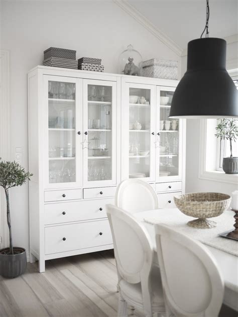 dining room cabinets ikea copia lo stile vetrine hemnes e lade hektar di ikea