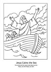 jesus calms storm coloring pages kids coloring
