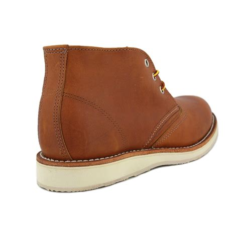 wing chukka 03140d mens laced leather chukka boots