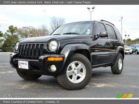 black jeep liberty 2003 black clearcoat 2003 jeep liberty limited 4x4 light
