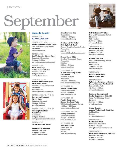Calendar Bay Area September 2014 Sf Bay Area Events Calendar Active Family