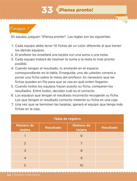 el libro de desafios matematicos de 5 grado contestado share the desaf 237 os matem 225 ticos libro para el alumno primer grado