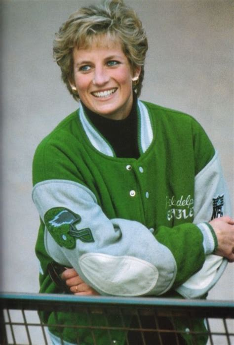 princess diana pinterest fans princess di in an awesome eagles jacket girl crush