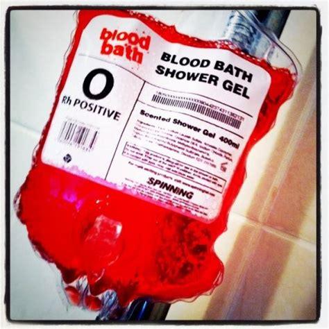 Blood Bath Shower Gel just had a blood bath here davehornsby