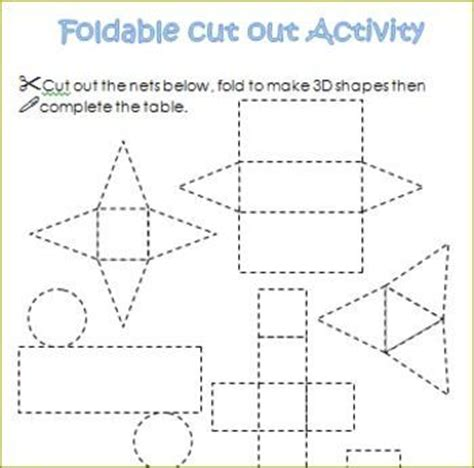 How To Make 3 Dimensional Shapes With Paper - three dimensional shape cut outs 3d shapes nets of each