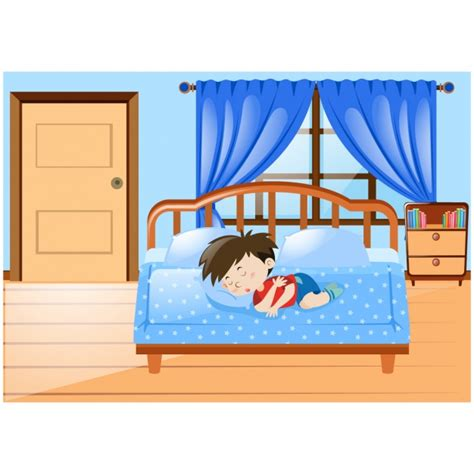 nel letto il ragazzo dormire nel letto scaricare vettori gratis