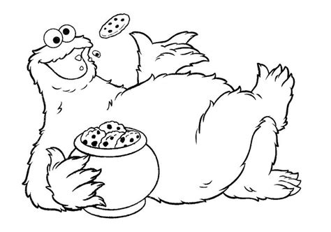 cookie monster cookie jar coloring pages coloring