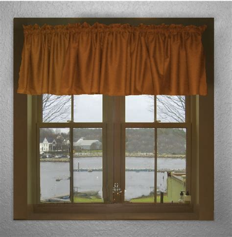 Rust Valance solid rust color valance in many lengths custom size