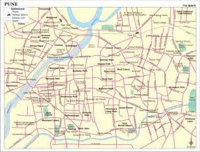 map city pune city map city map of pune with important places