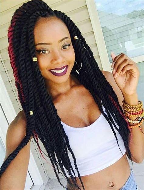 big braids in dark colours for blackwoman 40 big box braids styles herinterest com