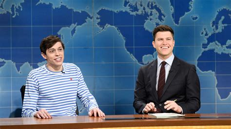 pete davidson update snl watch weekend update pete davidson on kevin love from