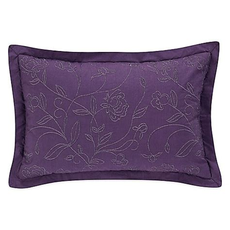 purple decorative pillows for bed boheme oblong throw pillow in purple www