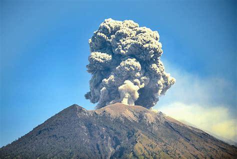 bali volcano update mount agung erupts   fco