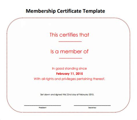 certification letter of membership sle certificate of membership template 28 images llc