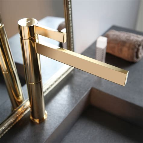 polished gold bathroom faucets polished gold waterfall bathroom faucet