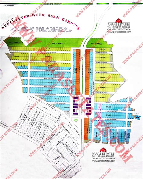 56 residential plots in soan gardens extension h block