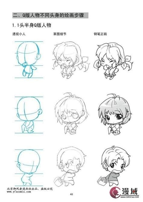 tutorial menggambar chibi anime q版画法 how to draw study resources for art students capi