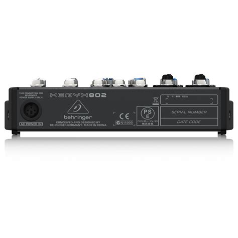 Mixer Behringer Xenyx 802 behringer xenyx 802 mixer at gear4music