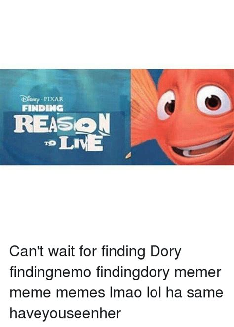 finding reason lme can t wait for finding dory findingnemo